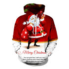 Santa Claus Father Christmas Women Men 3d Printed Pullover Hoodie Xmas Red