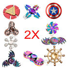 2 Pack Fidget Toy Hand Spinner Finger EDC Focus Stress Reliever Toys Kids Adults