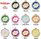 Red Dingo DAISY Engraved Dog ID Pet Tag / Charm - Stainless Steel & Enamel