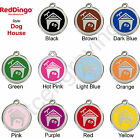 Red Dingo DOG HOUSE Engraved Dog ID Pet Tag / Charm - Stainless Steel & Enamel