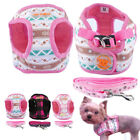 Cute Small Dog Harness and Leash set Soft Vest for Chihuahua Yorkie Puppy Pink
