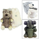 Vintage Luxury Super Soft Teddy And Overnight Bag Cute Animal Travel Cuddly Toy