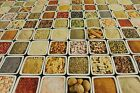 Colourful Indian Spices in Squares PVC Easy Wipe Clean Tablecloth 140cm Wide