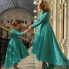 New Turquoise Lace Prom Dresses Formal Evening Gown Bridesmaid Weddding Dresses+
