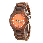 Bewell Men's RK-W023C Sandalwood Analog Wrist Watch Case and Strap Band