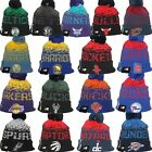 New Era NBA NE16 Sport Knit Reflective Tab Winter Pom Beanie Cap Hat Team Colors on eBay