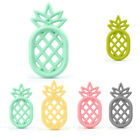 Silicone Pineapple Teether Pendent DIY Teething Baby Safe Pram Toy Pacifier Clip