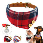 Cute Bandana-Style Dog Collars with Dog Tags & Bell Puppy Neckerchief Neck Scarf