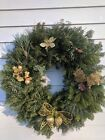 Decorated christmas balsam cedar white pine red pine wreath
