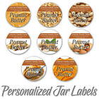 PEANUT BUTTER PERSONALIZED MASON JAR LID BOTTLE KITCHEN STICKLERS LABELS