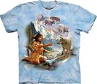 Dreams of Wolf Spirit Indians T Shirt Adult Unisex Mountain