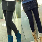 Women Winter Thick Warm Fleece Lined Stretchy Skinny Leggings Pants Skirt Dress
