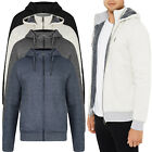Threadbare Mens Westcliffe Hoodie Luxury Thick Cosy Borg Lined Zip Up Hooded Top