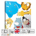 CHILDREN Animals Cartoon Nursery Canvas - Picture Print Wall Art READY to Hang