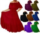 Boho Mexican Peasant Maxi Dress short sleeve fitted waist quality fabric A7580