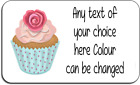 Cupcake Cake making Unique Personalised Labels with FREE protective wallet