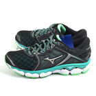Mizuno Wave Sky Black/Silver/Turquoise Lightweight Running Shoes J1GD170206