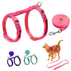 Adjustable Kitten Cat Harness and Leash set Soft for Small Puppy Kitty Walking