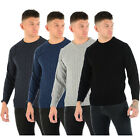 MENS CHUNKY CABLE KNIT JUMPER PLAIN PULLOVER THICK WARM WINTER KNITTED SWEATER