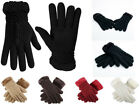 Fashion Women's Winter Knitted Warm Gloves Faux Fur Trim Luxury Style One Size