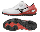 Mizuno Japan Golf Shoes Next Lite 004 Boa Wide Soft Boots 51GM1720 White Red