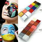 Professional Halloween Party Face Body Oil Paint Palette Kit Makeup Tattoo Art