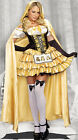 Adult Halloween Sexy Goldilocks Princess Fairy Tale Fancy Dress Costume & Cloak