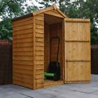 4x3 Wooden Shed Overlap Apex Shed, Small Storage Sheds