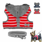 Soft Small Dog Harness and Leads set Cute Hoodie Vest for Puppy Chihuahua XS S M