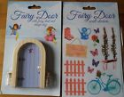 MAGICAL FAIRY DOOR WITH KEY, GLITTER & WALL STICKERS - LILAC OR PINK
