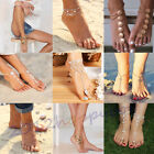 Women Crystal Barefoot Sandal Beach Anklet Foot Toe Chain Jewelry Ankle Bracelet