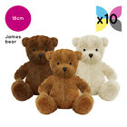 10 Brown White James Teddy Bear Without Clothing Blank Plain Soft Toy Plush Bulk