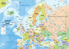 europe political map - NEW POLITICAL MAP OF EUROPE EDUCATIONAL GEOGRAPHY SCHOOL Art Silk Poster