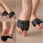 Black 2Pcs Dance Paws Cover Foot Forefoot Toe Undies Thong Half Lyrical Shoes