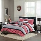 black and white striped comforter twin - Red Black & White Multi-Striped Comforter Set AND Decorative Pillows