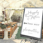 Personalised Wedding Sign / Happily Ever After-This Way-3 Size options