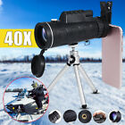 40X60 HD Zoom Optical Monocular Telescope Lens Clip w/ Tripod For IPhone X/8Plus