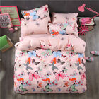 Beautiful Queen Size Bed Set Pillowcase Quilt Duvet Cover Kid Girl Color FitCA