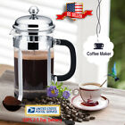 34oz French Press Coffee Maker Stainless Steel Pot Filter Cafetiere Tea Maker US