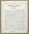 1902 NOLAN COUNTY TEXAS MAP LAND OFFICE SWEETWATER BLUE LINE PLATS RAILROAD LAND
