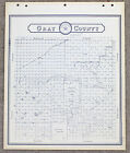 1900 GRAY COUNTY TEXAS MAP LAND OFFICE BLUE LINE GLASCOW PAMPA RAILROADS PLATS