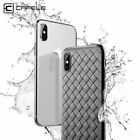 For Apple iPhone X 10 Shockproof Grid Weave Silicone Soft TPU Phone Case Cover