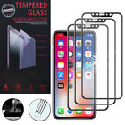 """3 Films Toughened Glass Protection Black Apple IPHONE x 5.8 """"/ 10"""