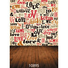 5X7FT Vinyl Photography Backdrop Valentine's Day Love Story Graffiti Background