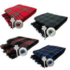 CC Scottish Piper's Kilt Fly Plaid with Stone Brooch & Pin/Kilt Fly Plaid Brooch