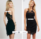 FREE PEOPLE Sz XS She Got It Mini Lace Dress BLACK New Tags