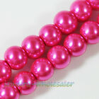 4-12mm Colorful Shiny Glass Pearl Round Spacer Smooth Loose Bead Jewelry Finding