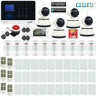 D88 APP WiFi GSM RFID GPRS Wireless House Home Security Alarm System+4 IP Camera
