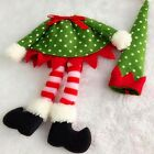 Xmas Christams Santa Claus Polka Dot Elf Wine Bottle Cover Bag Ornament Table 1x
