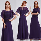 Ever-Pretty Women Long Evening Formal Party Wedding Dark Purple Dresses 08775